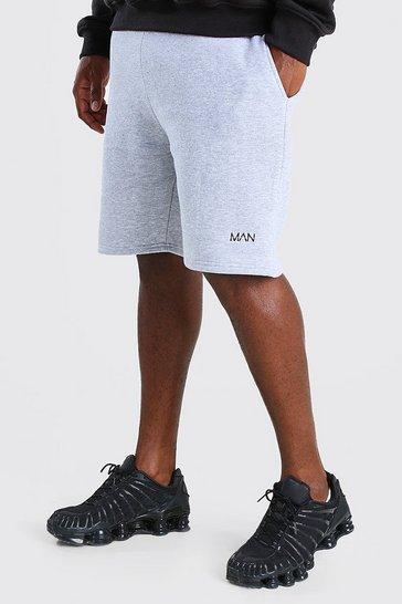 Grey marl Big And Tall MAN Mid Length Jersey Short