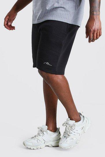 Black Big And Tall MAN Script Jersey Short