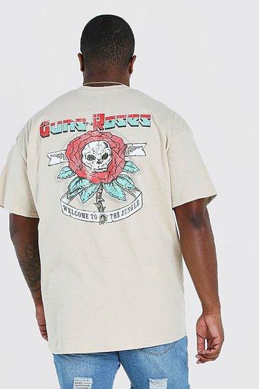 Stone Big And Tall Guns And Roses License T-Shirt