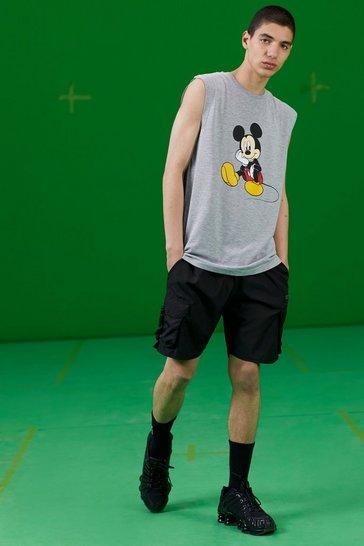 Grey marl Disney Mickey Printed Tank