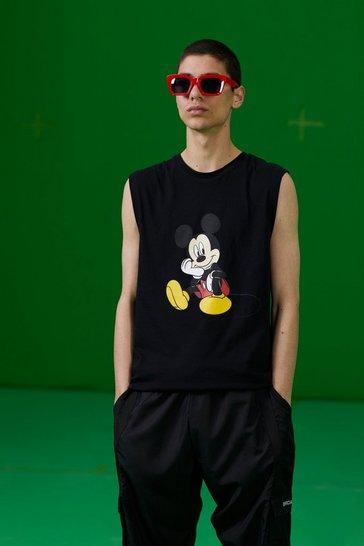 Black Disney Mickey Printed Tank