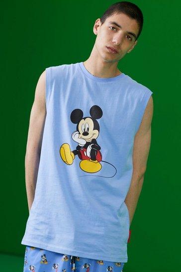 Blue Disney Mickey Printed Tank