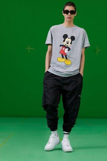Grey marl Disney Mickey Print T-Shirt