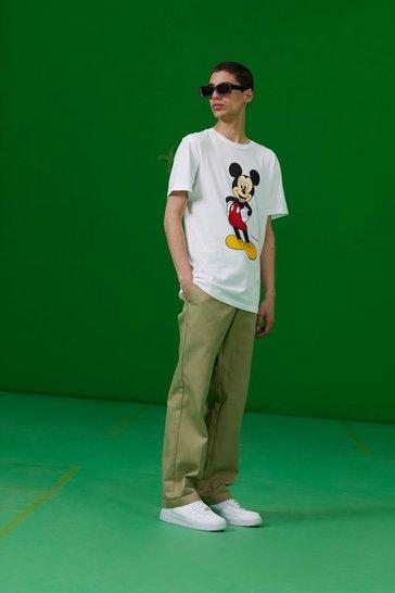 White Disney Mickey Print T-Shirt