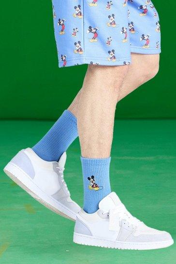 Multi Disney Mickey Embroidered Socks - 3 Pack
