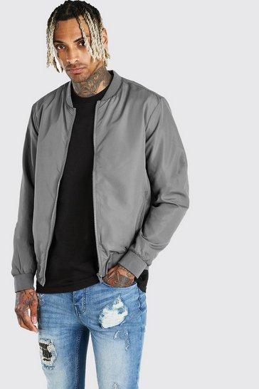 Grey Lightweight Bomber Jacket