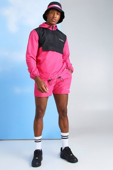 Pink MAN Official Nylon Cagoule & Short Set