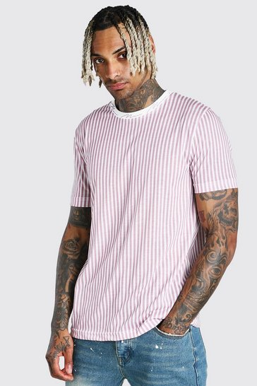Pink MAN Signature Vertical Stripe T-Shirt