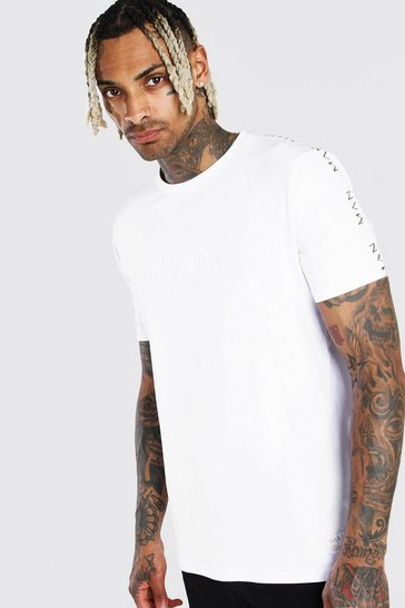 White Man Gold T-Shirt With Tape