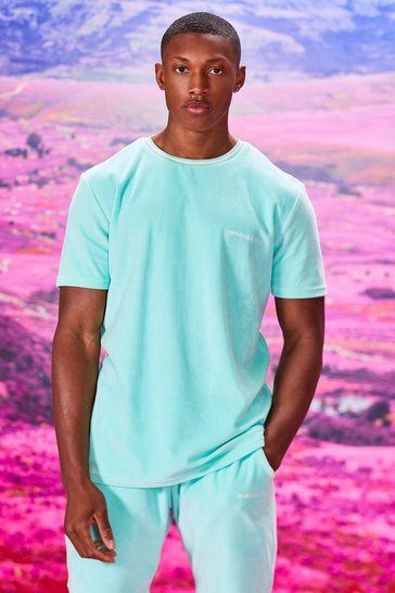 Mint Official MAN Velour T-Shirt & Short Set
