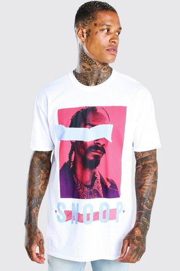 White Oversized Snoop Dogg License T-Shirt