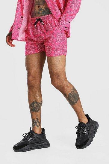 Pink Bandana Print Short