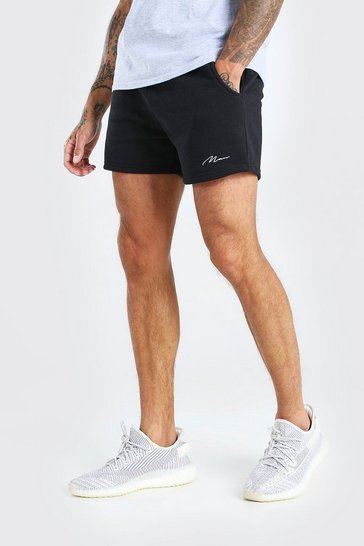 Black Man Signature Short length jersey short