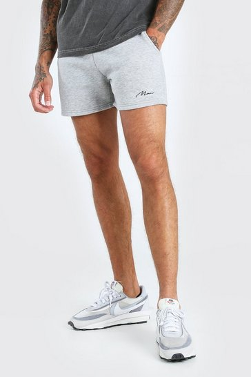 Grey marl Man Signature Short length jersey short