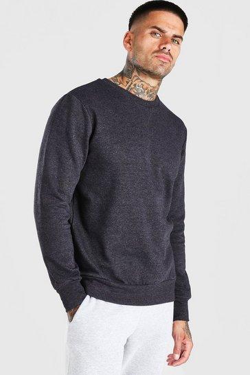 Charcoal Basic Crew Neck Sweatshirt