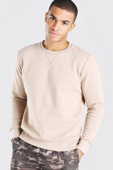 Stone Basic Crew Neck Sweatshirt