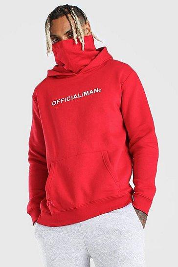 Red Man Official Snood Hoodie