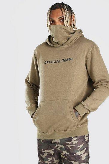 Khaki Man Official Snood Hoodie