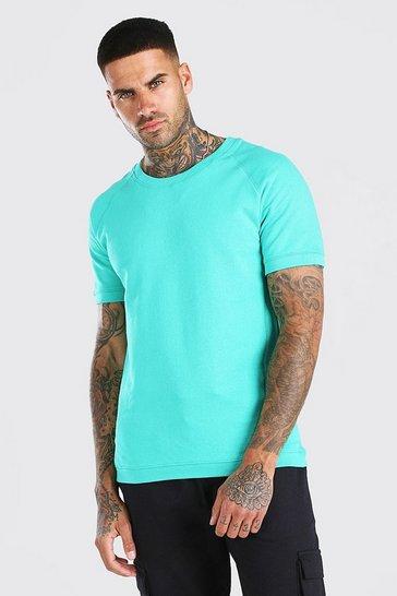 Green Short Sleeve Sweatshirt