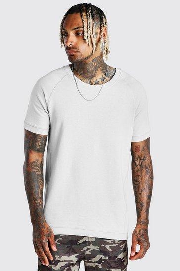 Grey Short Sleeve Sweatshirt