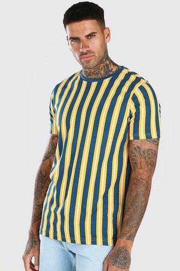 Mustard Diagonal Stripe T-Shirt