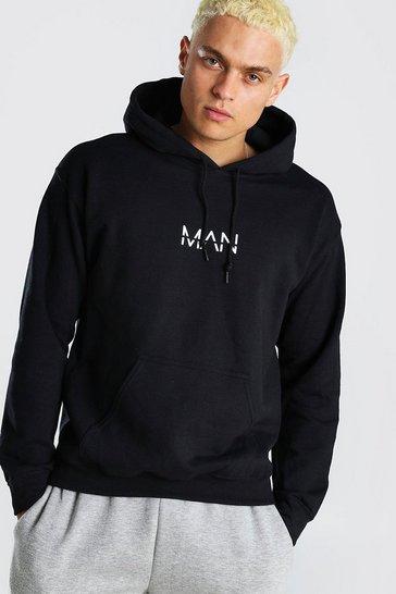 Black Original MAN Over The Head Hoodie