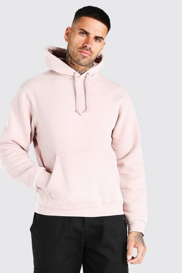 Pale pink Basic Over The Head Hoodie