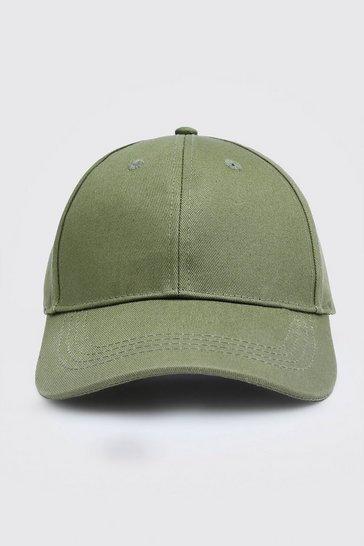 Khaki Curve Peak Cap