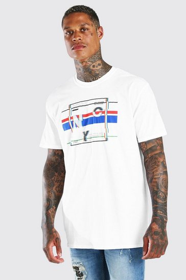White Oversized NYC Graphic Print T-Shirt