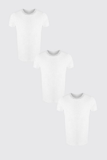 Multi 3 Pack Crew Neck T-Shirt