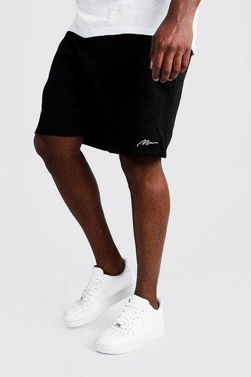 Black Big and Tall MAN Script Skinny Fit Short