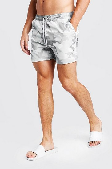 Camo Mid Length Swim Shorts