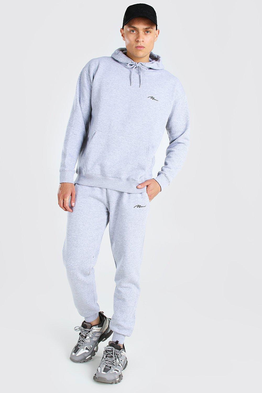 Survêtement à capuche coupe ample MAN Homme - grey marl - XS, grey marl