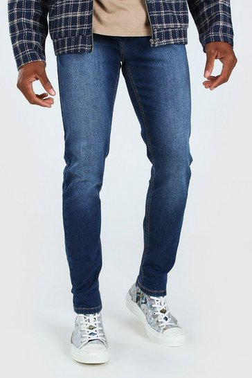 Mid blue Skinny Fit Denim Jeans