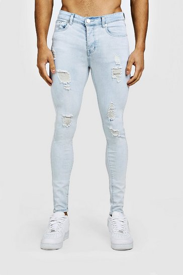 Ice Spray On Skinny Jeans With Distressing