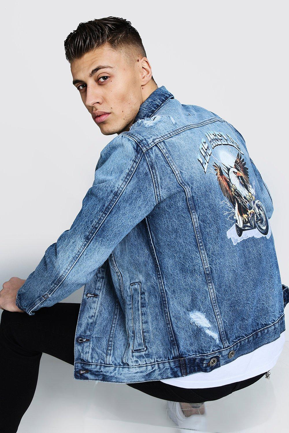 Denim Jacket With Back Print