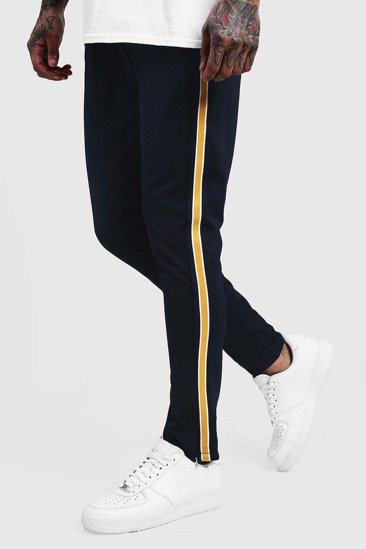Купить Skinny Fit Tricot Side Panel Joggers, boohoo