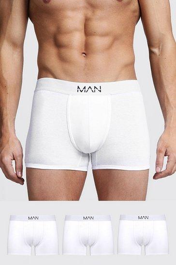 White 3 Pack MAN Trunks