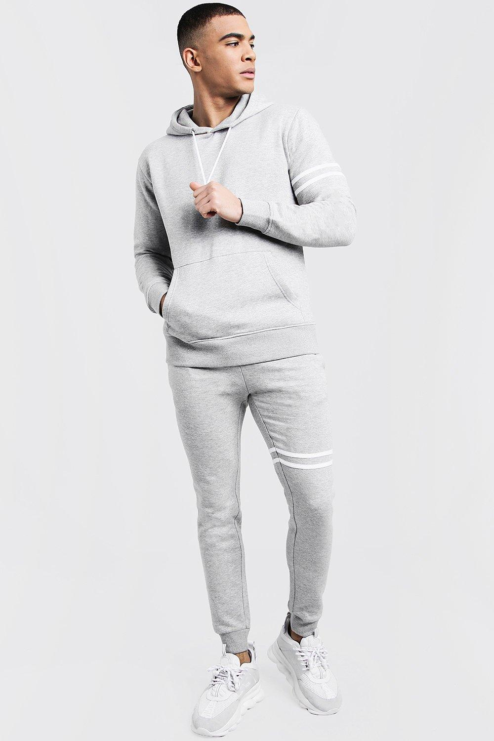 Купить Tracksuits, Hooded Tracksuit With Contrast Stripes, boohoo