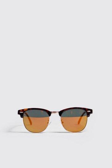 Brown Tortoise Frame Pantos Sunglasses