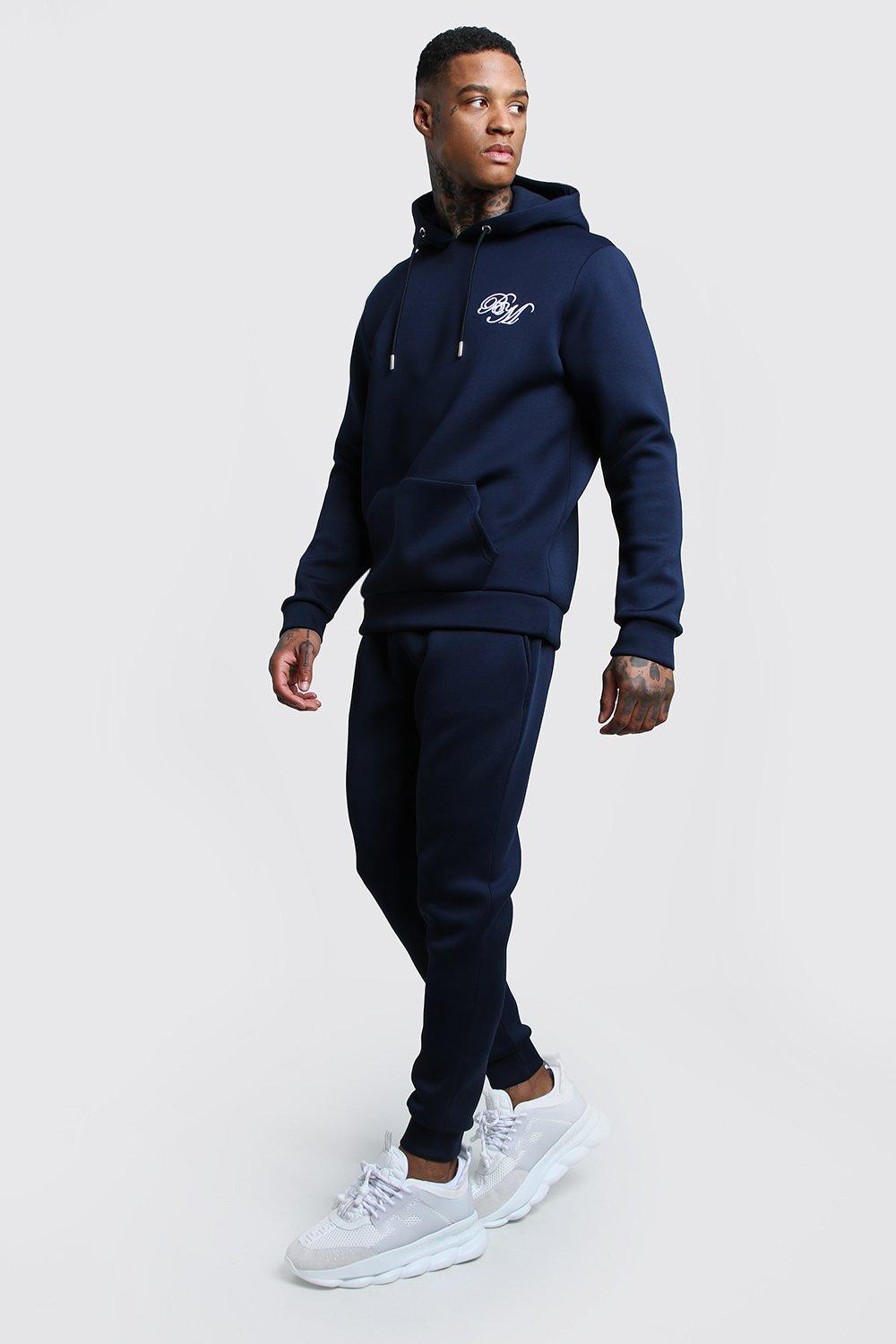 Купить Tracksuits, Scuba BM Embroidered Hooded Tracksuit, boohoo