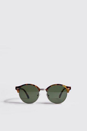 Brown Round Lens Retro Sunglasses