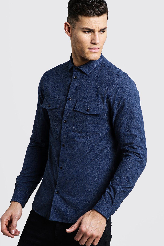 Купить Фланелевая рубашка Utility с ворсом с длинными рукавами, boohoo