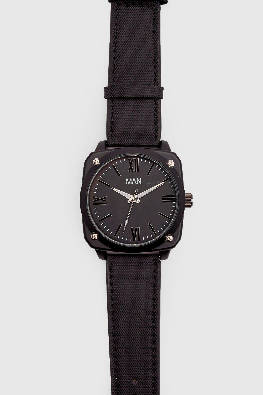 Купить Наручные часы, Часы MAN черные, boohoo