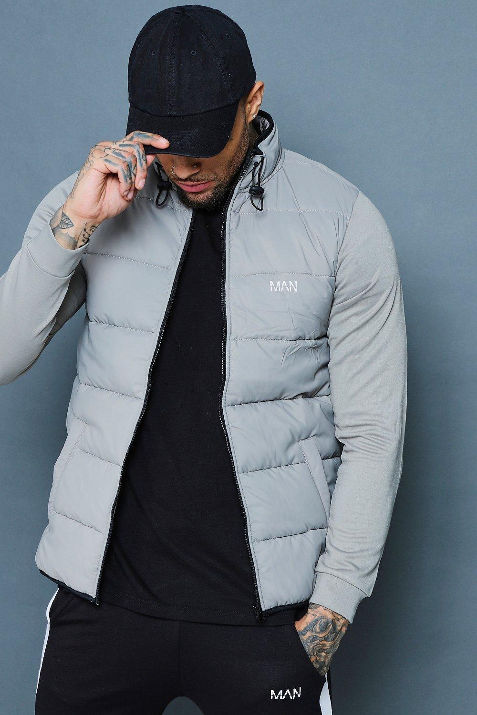 Купить Hoodies and Sweats, Куртка с рукавами мягкой подкладкой для активных занятий спортом, boohoo
