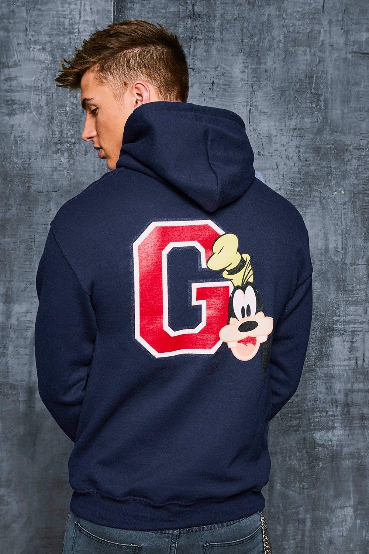Купить со скидкой Толстовка с капюшоном Disney в студенческом стиле с изображением Гуфи и принтом <G>