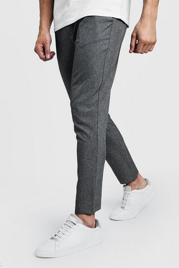 Grey Skinny Plain Smart Jogger Trouser