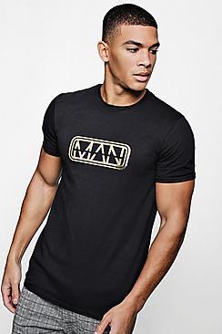 Maglietta con stampa foglie MAN original