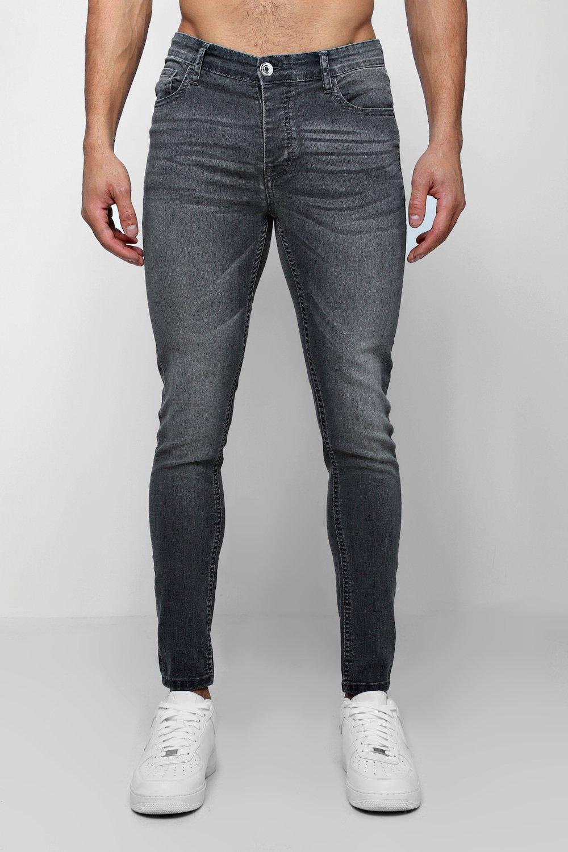 Узкие джинсы с напылением фото