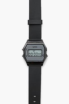 Orologio digitale classico con cinturino in stile retrò